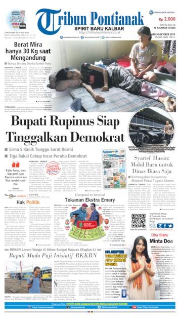 Tribun Pontianak Newspaper 30 October 2019 Gramedia Digital