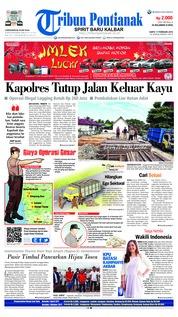 Cover Tribun Pontianak 17 Februari 2018