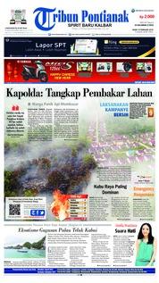 Cover Tribun Pontianak 19 Februari 2018