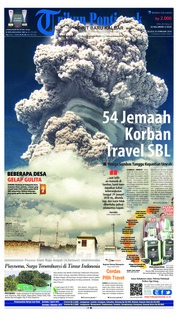 Cover Tribun Pontianak 20 Februari 2018