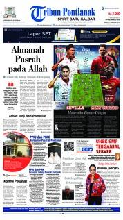 Cover Tribun Pontianak 21 Februari 2018