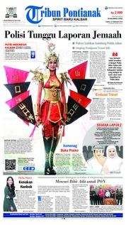Cover Tribun Pontianak 22 Februari 2018