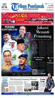 Cover Tribun Pontianak 24 Februari 2018