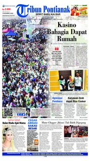 Cover Tribun Pontianak 23 April 2018