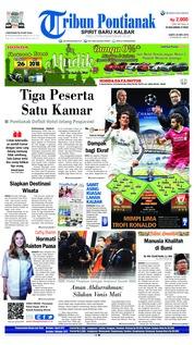 Cover Tribun Pontianak 26 Mei 2018
