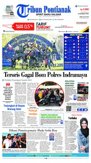 Cover Tribun Pontianak 16 Juli 2018