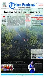 Cover Tribun Pontianak 17 Juli 2018