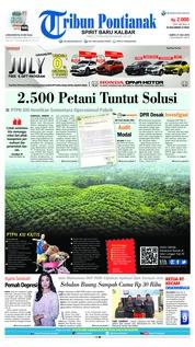 Cover Tribun Pontianak 21 Juli 2018