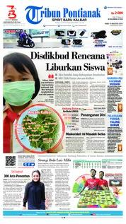 Cover Tribun Pontianak 15 Agustus 2018