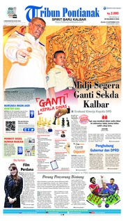 Cover Tribun Pontianak 18 September 2018