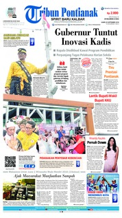 Cover Tribun Pontianak 20 September 2018