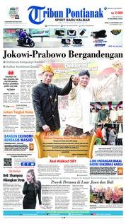 Cover Tribun Pontianak 24 September 2018