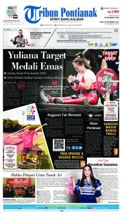 Cover Tribun Pontianak 26 September 2018