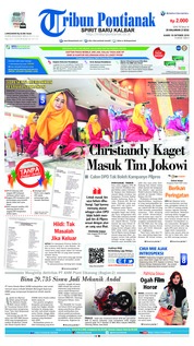 Cover Tribun Pontianak 18 Oktober 2018