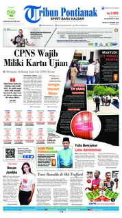 Cover Tribun Pontianak 23 Oktober 2018