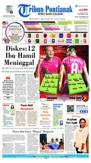Cover Tribun Pontianak 13 November 2018