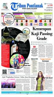 Cover Tribun Pontianak 14 November 2018