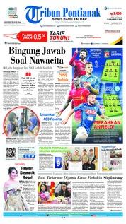 Cover Tribun Pontianak 11 Desember 2018
