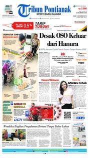 Cover Tribun Pontianak 12 Desember 2018