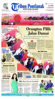 Cover Tribun Pontianak 15 Desember 2018