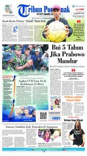Cover Tribun Pontianak 15 Januari 2019