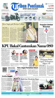 Cover Tribun Pontianak 16 Januari 2019