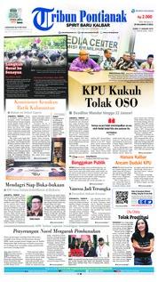 Cover Tribun Pontianak 17 Januari 2019