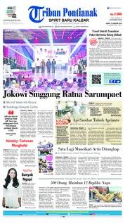 Cover Tribun Pontianak 18 Januari 2019