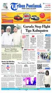 Cover Tribun Pontianak 19 Januari 2019