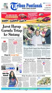 Cover Tribun Pontianak 20 Januari 2019