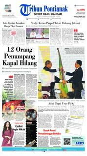 Cover Tribun Pontianak 21 Januari 2019