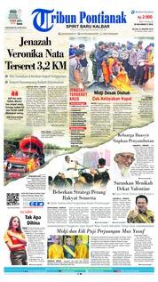 Cover Tribun Pontianak 22 Januari 2019