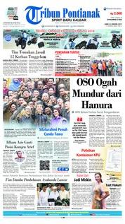 Cover Tribun Pontianak 23 Januari 2019