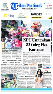 Cover Tribun Pontianak 20 Februari 2019