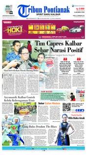 Cover Tribun Pontianak 23 Februari 2019