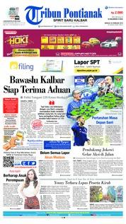 Cover Tribun Pontianak 24 Februari 2019