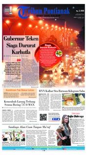 Cover Tribun Pontianak 15 Maret 2019