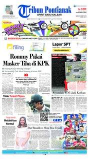 Cover Tribun Pontianak 16 Maret 2019
