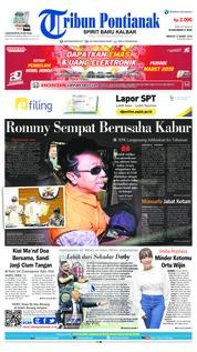 Cover Tribun Pontianak 17 Maret 2019