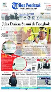 Cover Tribun Pontianak 18 Maret 2019