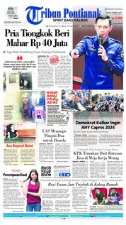 Cover Tribun Pontianak 19 Maret 2019