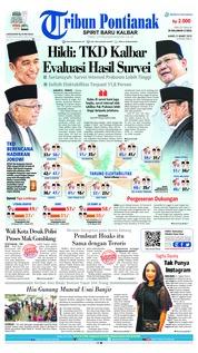Cover Tribun Pontianak 21 Maret 2019