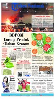 Cover Tribun Pontianak 22 Maret 2019