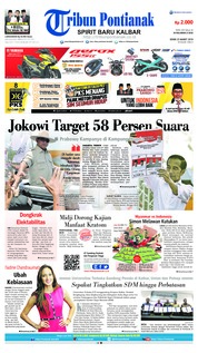 Tribun Pontianak Cover 25 March 2019
