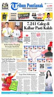 Cover Tribun Pontianak 26 Maret 2019