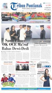 Cover Tribun Pontianak 14 April 2019