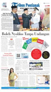 Cover Tribun Pontianak 15 April 2019
