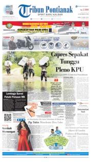 Cover Tribun Pontianak 17 April 2019