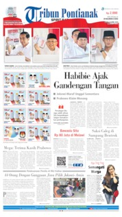 Cover Tribun Pontianak 18 April 2019