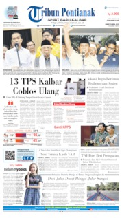 Tribun Pontianak Cover 19 April 2019